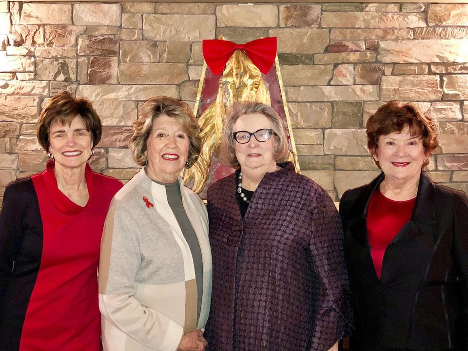 Photo - Polly Nichols, Lela Sullivan, Mary Deane Streich, Karen Browne. PHOTO BY DR. MARK SULLIVAN