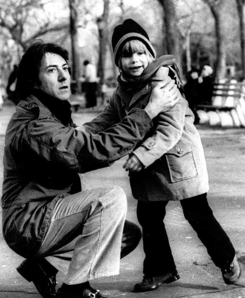 FILE - In this 1979 publicity file photo, Dustin Hoffman, left, and Justin Henry appear in the film,