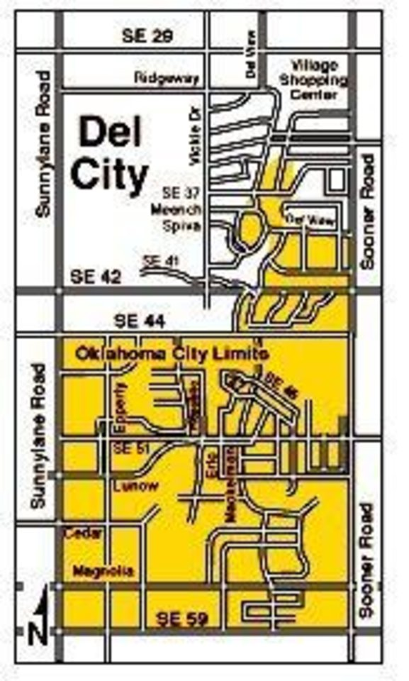 Tornado aftermath: Del City map