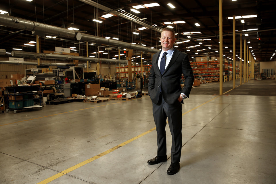 Photo -  Zach Martin, a partner in Adept Commercial Real Estate, is shown in improved warehouse space at 16 S Pennsylvania Ave. freshly leased by HurryHub, a drop-shipping business. [BRYAN TERRY Photos/THE OKLAHOMAN]