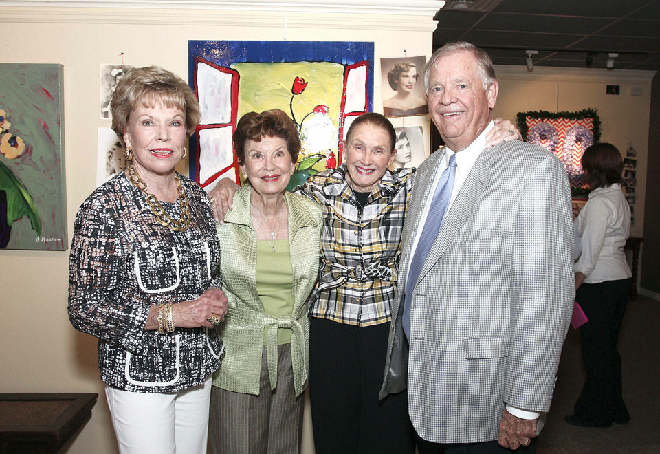 Photo - Barbara Watson, Kaye Jones, Judy Jordan, Tommy Jones.  PHOTOS BY DAVID FAYTINGER, FOR THE OKLAHOMAN