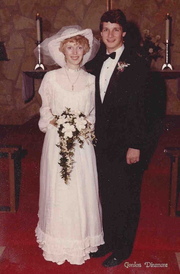 Photo - Louise and Mike King on their wedding day in April 1983. Photo provided by Ginny Wynn.