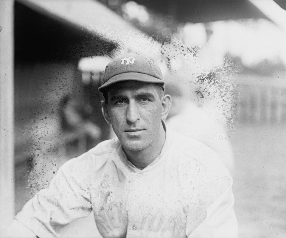Photo -   In this photo, date not known, provided by the Library of Congress, New York Yankees shortstop Roger Peckinpaugh poses for a photo in New York. Described as a natural leader, in 1914 he became the team's second captain, a title he held through 1921. He succeeded Frank Chance as the team's manager for the last few weeks of the 1914 season, making him, at 23, the youngest manager ever in the majors, though he did not manage the Yankees the following season. Reliable and proficient both in the field and at the plate, Peckinpaugh was the senior player of the Yankees teams that emerged as contenders in the early 1920s. But after the 1921 season, the captain was traded to the Red Sox and then to the Washington Senators. He was the star of the Senators' 1924 world championship team. (AP Photo/Library of Congress)