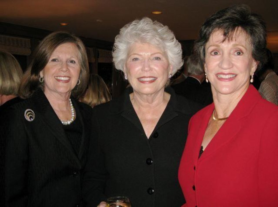 ENGAGEMENT PARTY...Elaine Levy, Phyllis Stough and Gennie Johnson  were at the party for Christina Felton and Matthew Thompson. (Photo  by Helen Ford Wallace).