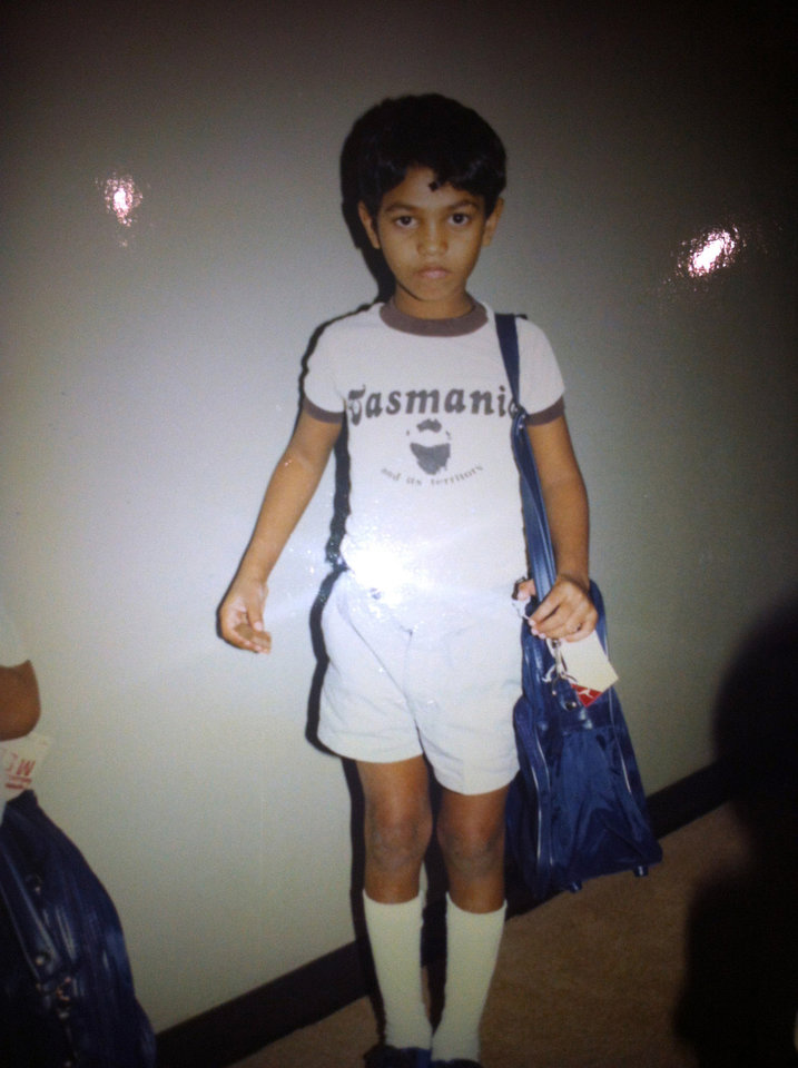 Photo -   This undated photo provided by Saroo Brierley shows him as a young boy in Australia. In February 2012, Brierley, 30, reunited with his biological mother, Fatima Munshi, in Khandwa, India, 25 years after an ill-fated train ride left him an orphan on the streets of Calcutta. (AP Photo/Saroo Brierley)