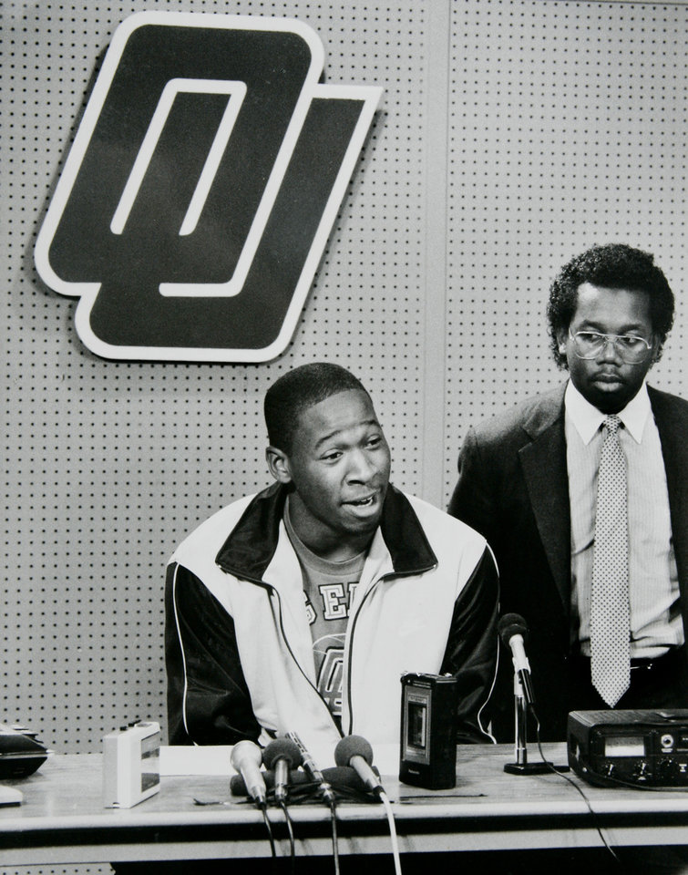 Former OU basketball player Wayman Tisdale. Photo taken 5/5/1984, Photo published 5/6/1984 in The Daily Oklahoman     Staff Photo by Doug Hoke ORG XMIT: KOD