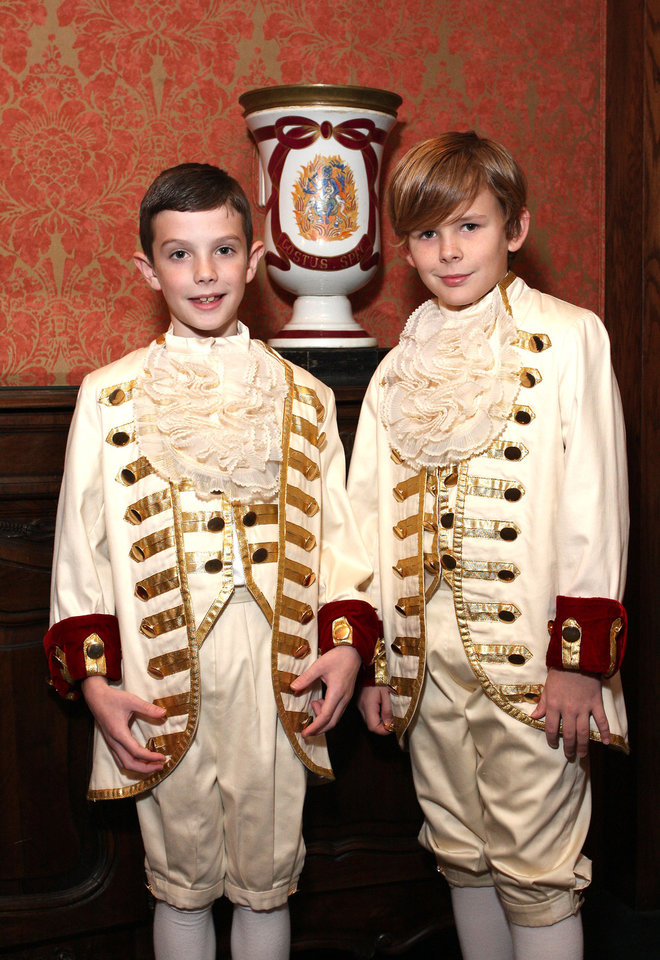 Photo -  Jack DeGiusti, age 9, and Whit Hull, age 10, were court pages.