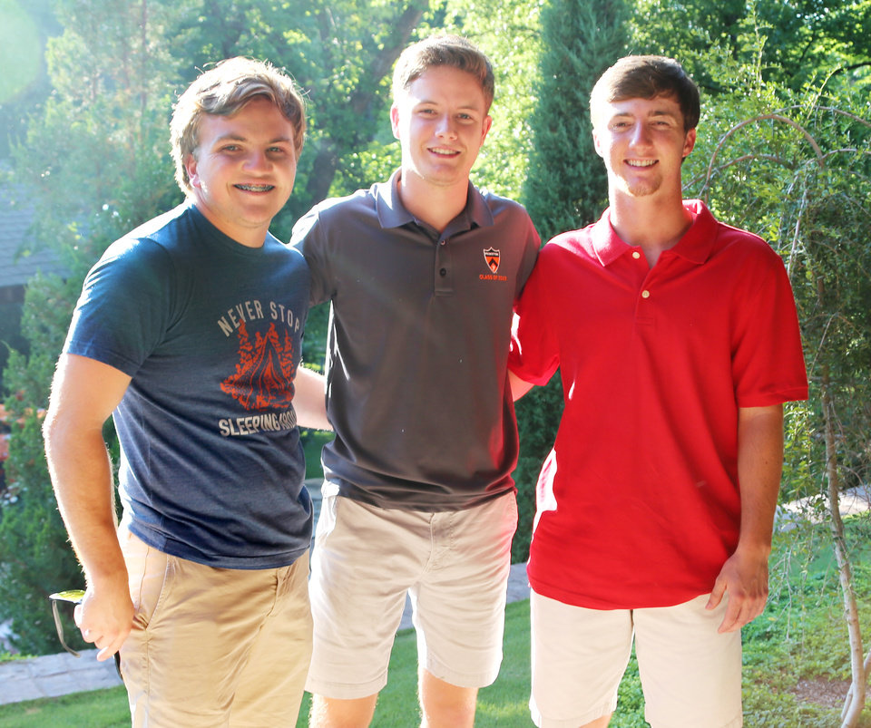 Photo - Jacob Edwards, Tucker Hill, Nick O'Donnell. PHOTO PROVIDED