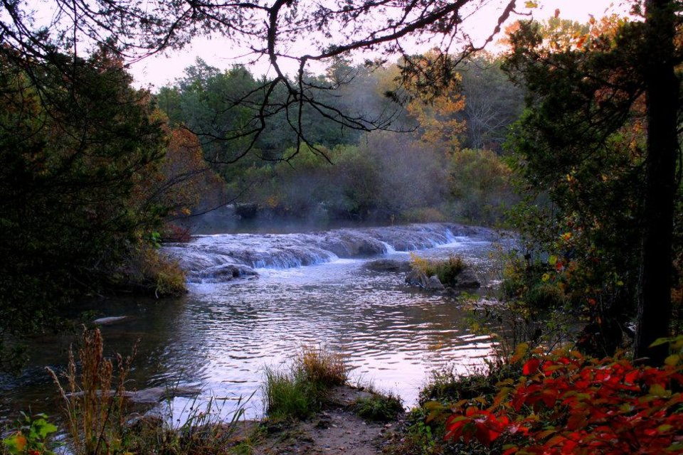 Photo - The Blue River near Tishomingo is a beautiful trout fishing destination  Photo by Donny Carter