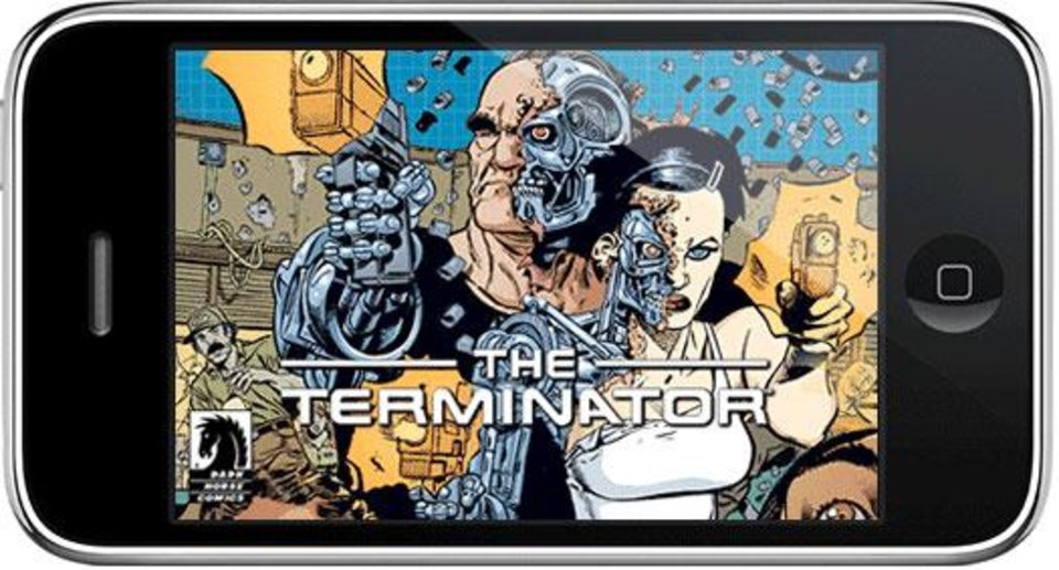 """Photo - COMIC BOOK: """"Terminator: Death Valley"""" from Dark Horse Comics has been adapted for the iPhone. DARK HORSE PHOTO    ORG XMIT: 0905281559279231"""