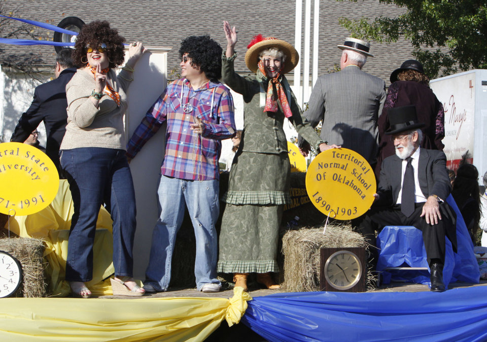 UCO alumni ride on a float during the University of Central Oklahoma's homecoming parade in Edmond, OK, Saturday, November 3, 2012,  By Paul Hellstern, The Oklahoman