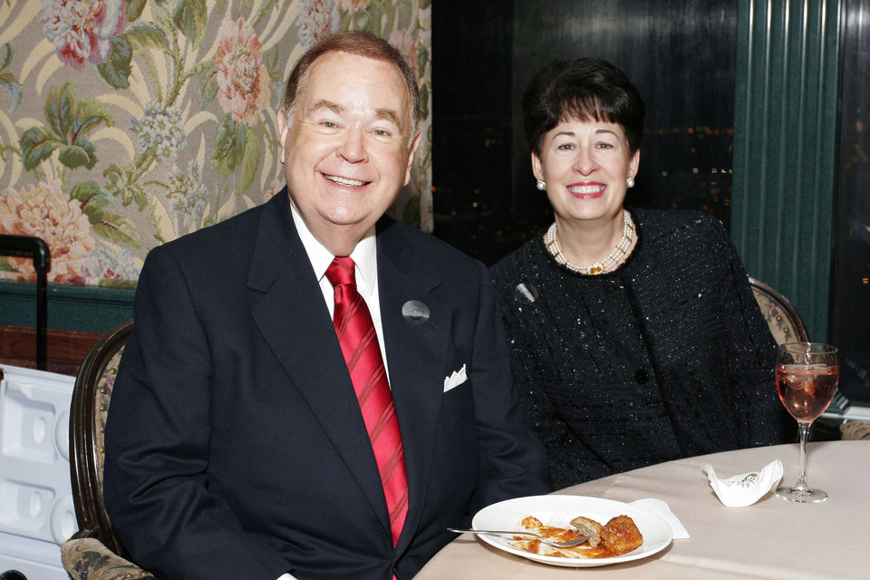 Photo - David and Molly Boren at the after party for the Centennial Spectacular at the Ford Center Friday, Nov. 16, 2007. By David Faytinger, for The Oklahoman.