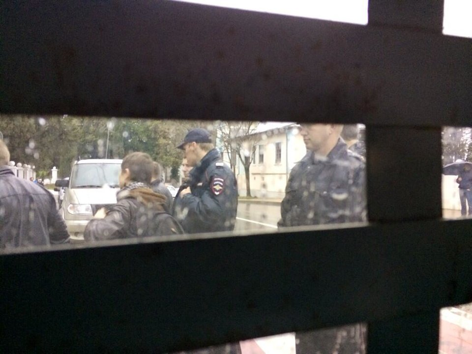 Photo - This photo provided by Maria Alekhina, a member of the punk band Pussy Riot, was taken from inside a police detention vehicle after she and several others were detained in Sochi, Russia, on Tuesday, Feb. 18, 2014. Fellow band member Nadezhda Tolokonnikova wrote on Twitter that she and Alekhina were detained Tuesday while walking in downtown Sochi, the host city of the Winter Olympics. (AP Photo/Maria Alekhina)