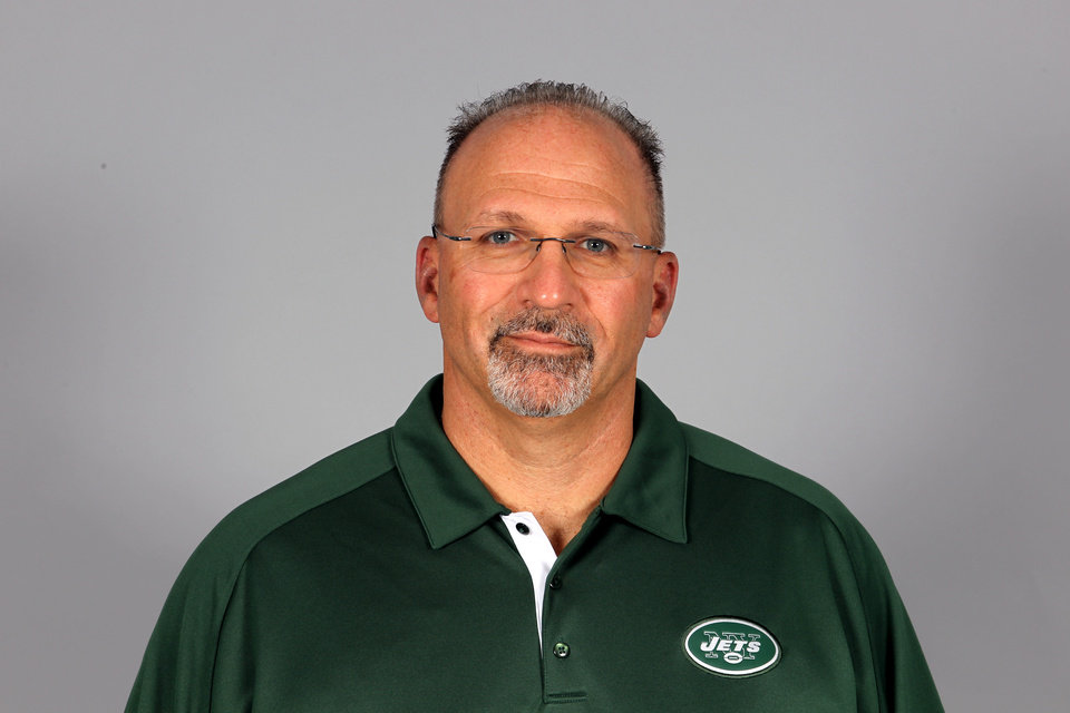 FILE - This is a 2012 file photo showing Tony Sparano of the New York Jets NFL football team. Sparano has been fired as the Jets' offensive coordinator, Tuesday, Jan. 8, 2013,  after one season in which the offense ranked among the league's worst. (AP Photo/File)