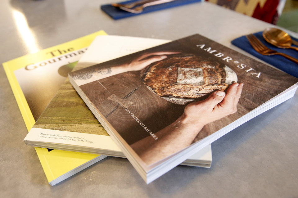 Photo -  Magazines from The Kitchen at Commonplace Books in Oklahoma City. [Photo by Sarah Phipps, The Oklahoman]