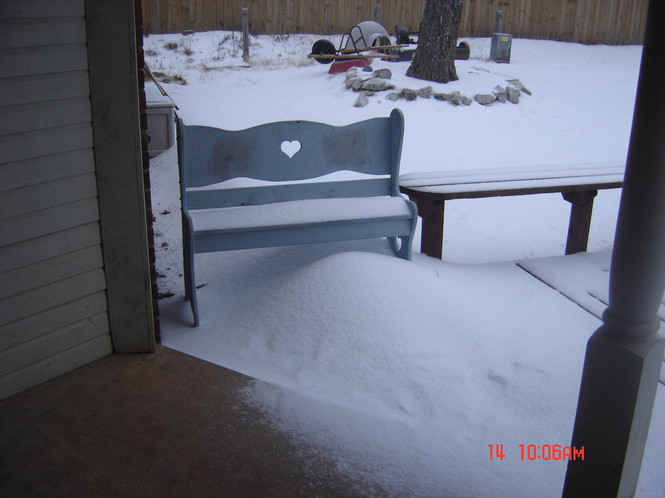 News 9 this is a picture of the accumulation of sleet in our backyard, in Guthrie, Oklahoma. It was taken about 10:15am Sunday morning. Hope you enjoy.<br/><b>Community Photo By:</b> Jami B. Fogle<br/><b>Submitted By:</b> Jerome' D., Guthrie