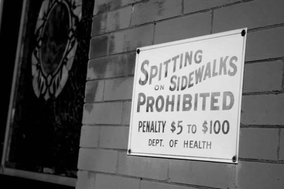 No Spitting on the Sidewalk and other images of Guthrie available at Sarah Boling Gallery - 305 W Oklahoma - 405/361-1741<br/><b>Community Photo By:</b> Sarah Boling<br/><b>Submitted By:</b> Dana, Edmond