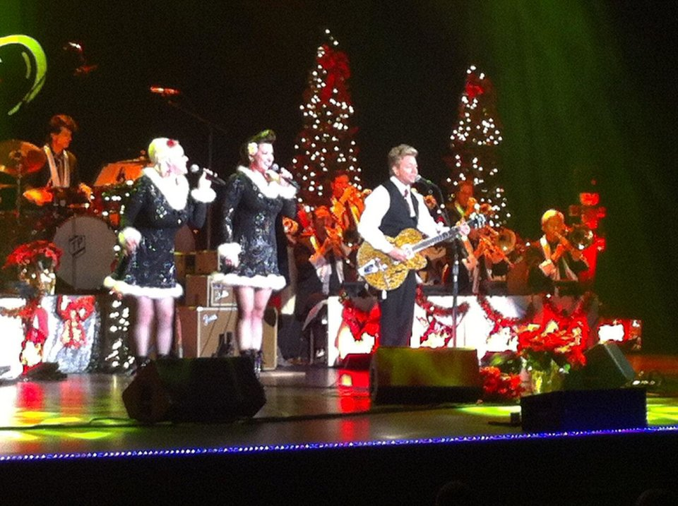 Photo - Brian Setzer and his Orchestra filled The Joint at the Hard Rock Hotel and Casino Tulsa on Friday night Photo by Robert Medley, The Oklahoman