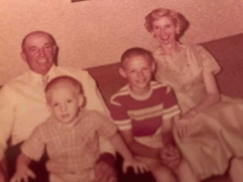 Photo - This family photo shows Art Peters and his wife, Sybil, and their sons,  David, and Don, in 1960. [Photo Provided]