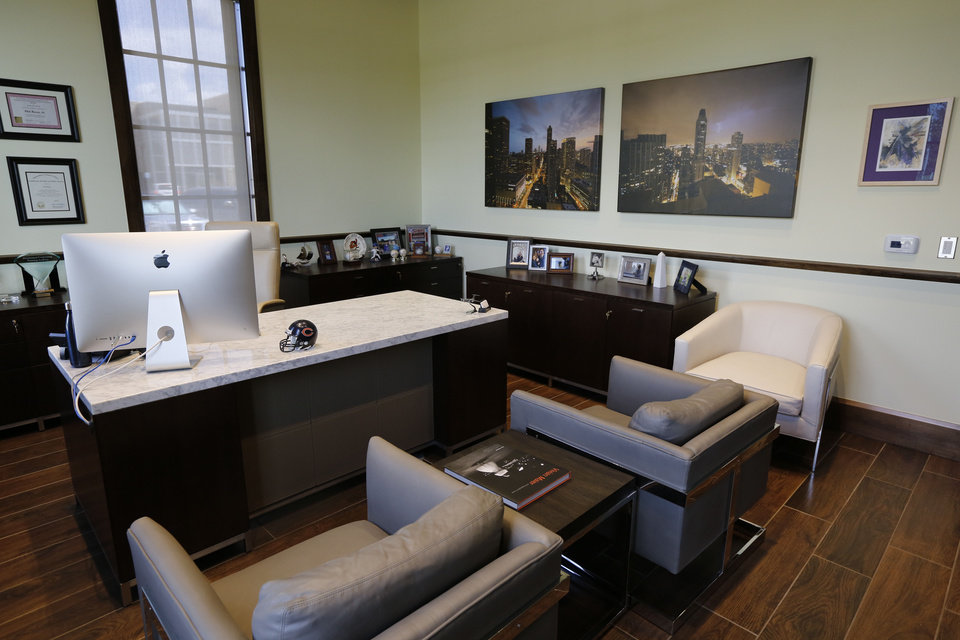 Photo -  Philip Busey Jr.'s office at Delaware Resource Group. [PHOTO BY PAUL HELLSTERN, THE OKLAHOMAN]