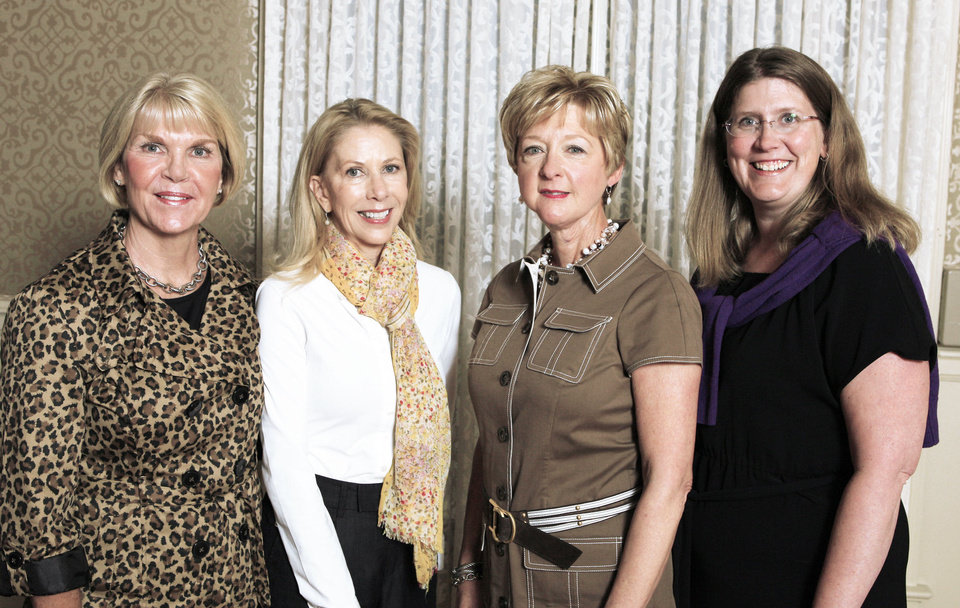Photo - Lou Morris, Becky Switzer, Jane Thompson, Angela Geiger. PHOTOS BY PAUL B. SOUTHERLAND FOR THE OKLAHOMAN