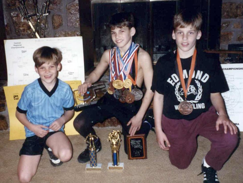 Curtis, Brett and Michael Behenna in the the early 1990s. Photo provided by the Behenna Family