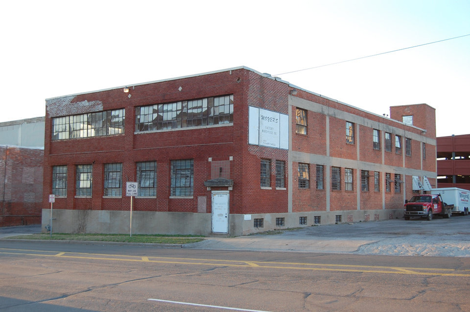 Photo -  The two-story brick building (with a basement) at 10 NW 6 was for years used for private storage, but is now being renovated into the new home for the Oklahoma City Geological Society. Photo provided    Provided  -