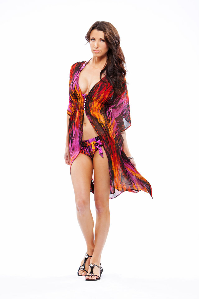 Photo - OndadeMar Biarritz two-piece bathing suit and cover-up, from Liberte. Photo provided.