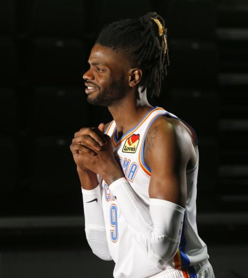 Photo -  Oklahoma City center Nerlens Noel is fond of Hood golden eggnog. [Nate Billings/The Oklahoman]