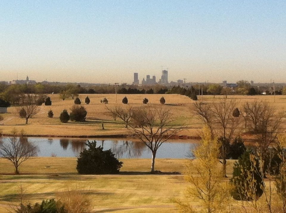 Downtown OKC in the distance on April 1