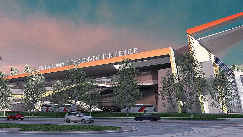 Photo - Artist rendering of proposed MAPS 3 Oklahoma City convention center.