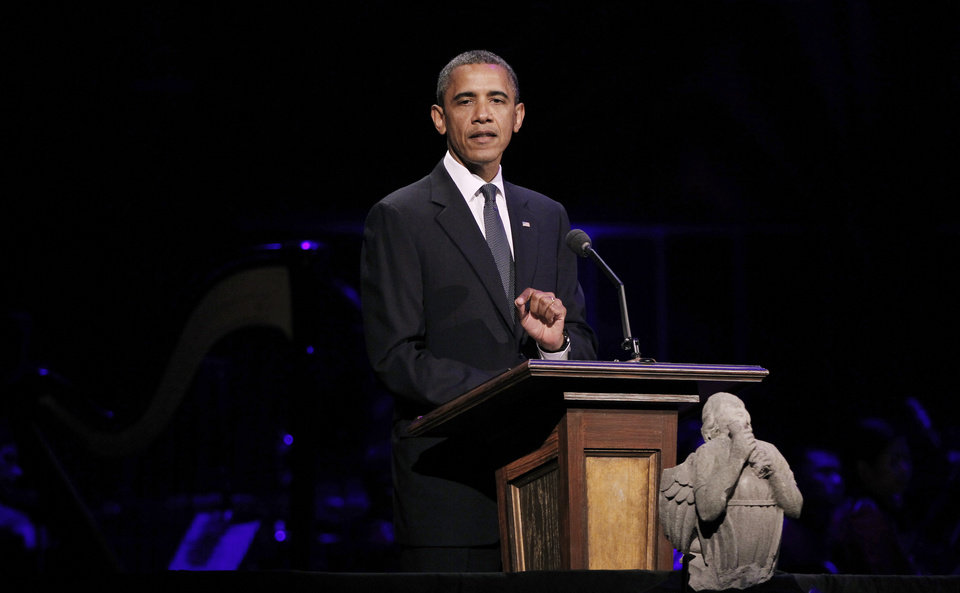 Photo -   President Barack Obama speaks at