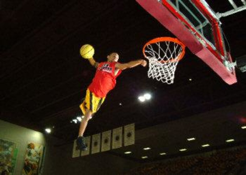 "A member of Acrodunk performs on the court. The group will perform at OKC Faith Church's ""Feeding the 5000/Impact 5000"" event set for Aug. 4 at 800 S Portland. Photo provided <strong></strong>"