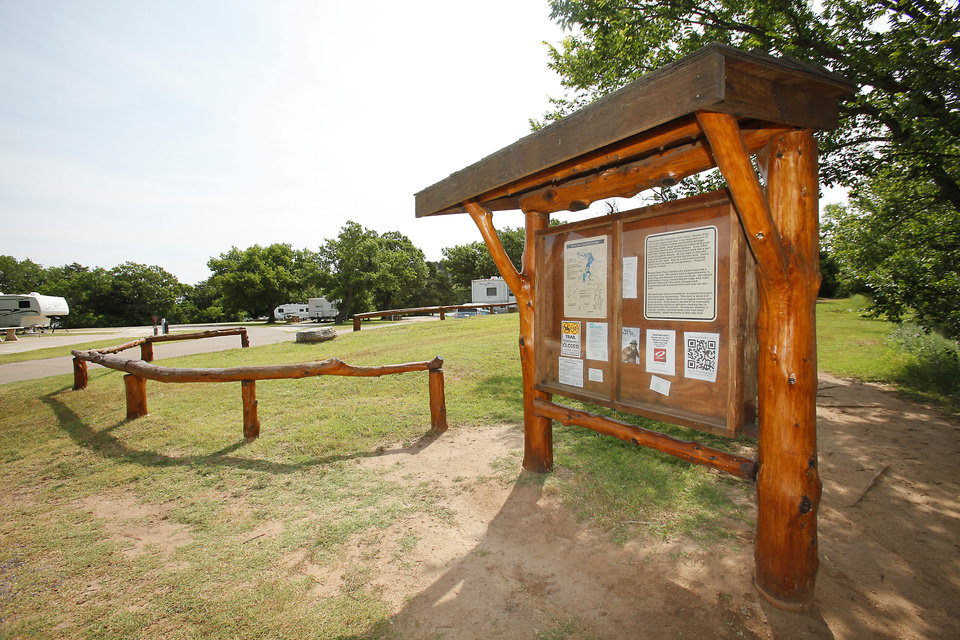 Photo - New information sign and campground at  Roman Nose State Park, Tuesday , May 22, 2012. Photo By David McDaniel/The Oklahoman