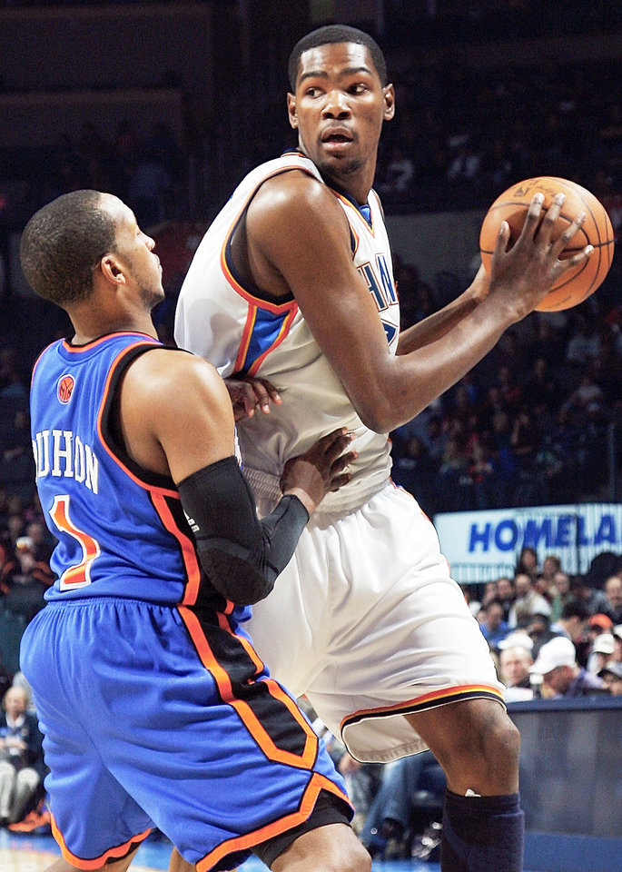 Photo - Kevin Durant is on pace to become one of the starting five in the NBA All-Star game.  Photo by Nate Billings, The Oklahoman