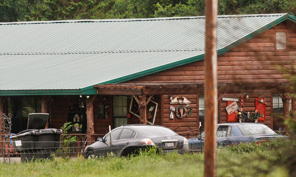 Photo - The house on SH 9A about eight miles north of Konowa where partygoers overdosed on2C-E,  a designer drug similar to ecstacy, sending several people to the hospital and killing one girl.  Tuesday,  May 11,  2011, Photo by Jim Beckel, The Oklahoman
