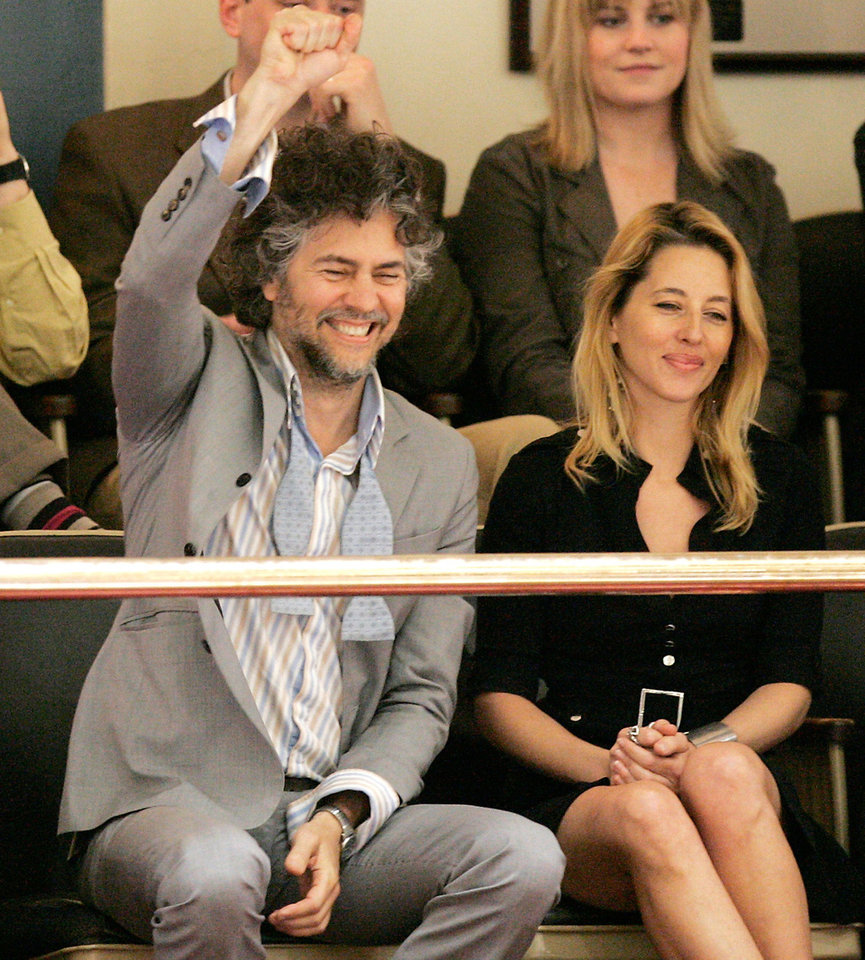 Photo - Wayne Coyne and his wife, Michelle Martin-Coyne, are shown at the state Capitol in 2009. Photo by Steve Gooch, The Oklahoman Archives  Steve Gooch