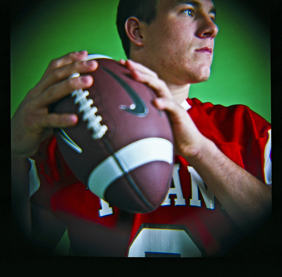 J.T. Realmuto of Carl Albert High School on Monday, Dec. 14, 2009, in Oklahoma City, Okla.   Photo by Chris Landsberger, The Oklahoman