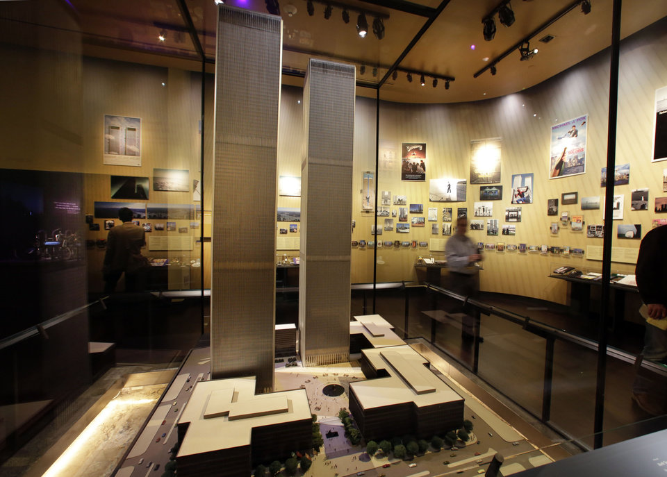 Photo - The only existing model of the World Trade Center is displayed at the National Sept. 11 Memorial Museum, Wednesday, May 14, 2014, in New York. The museum is a monument to how the Sept. 11 terror attacks shaped history, from its heart-wrenching artifacts to the underground space that houses them amid the remnants of the fallen twin towers' foundations. It also reflects the complexity of crafting a public understanding of the terrorist attacks and reconceiving ground zero.  (AP Photo)