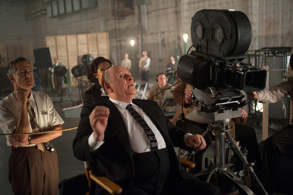 Photo -   This publicity film image released by Fox Searchlight shows Anthony Hopkins as Alfred Hitchcock in