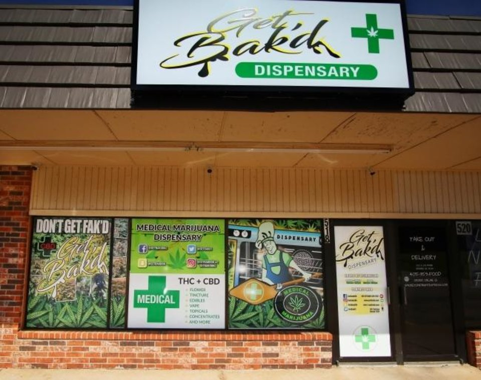 Photo -  Get Bak'd Medical Marijuana Dispensary is shown at 516 S Coltrane Road in Edmond. A National Association of Realtors survey indicates legalized marijuana has been a boon for real estate. [THE OKLAHOMAN ARCHIVES]