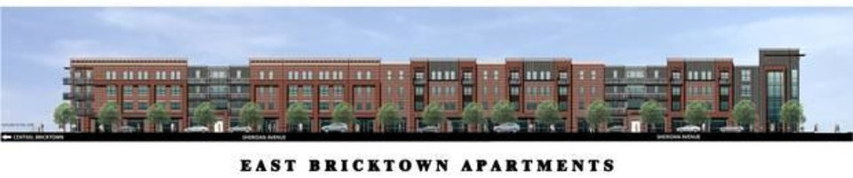 Photo -  The original first phase of the east Bricktown apartments.