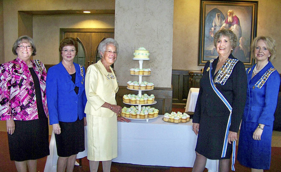 Linda DeWitt Hughey, Joy Love Plumlee, Orriene Denslow, Pat Miller McFall and Cynthia Glover Henderson. PHOTO PROVIDED