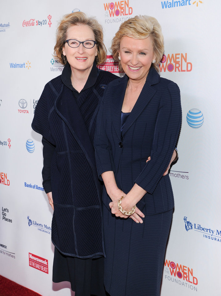 Photo - Actress Meryl Streep, left, and editor-in-chief of The Daily Beast and Newsweek, Tina Brown, attend the 4th Annual Women in the World Summit at the David H. Koch Theater on Thursday April 4, 2013 in New York. (Photo by Evan Agostini/Invision/AP)