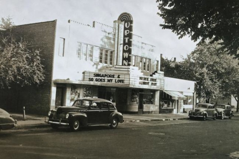 Photo -  The Uptown Theater was built in 1941 by grocer Robert Sieber and operated until 1956 when his daughter, Delrose, striped it of its marque, closed up half the first floor windows and storefront and converted it into medical office space. Its era as home to medical offices lasted from 1957 to the early 1970s, no longer than its time as a theater. But to qualify for historic tax credits, the developers were prohibited from restoring to its original, historic facade. [PROVIDED BY THE PIVOT PROJECT]