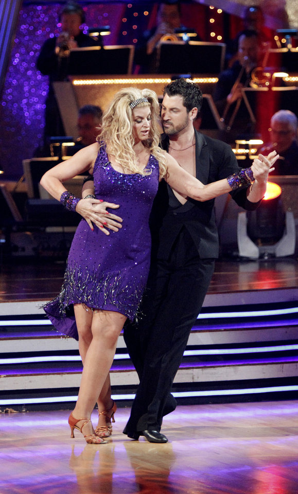 """Photo -  DANCING WITH THE STARS: ALL STARS - """"Dancing with the Stars: All-Stars"""" marks the first time prior contestants will return for another shot at the coveted mirror ball trophy for a very special All-Star season. From former champions to fan favorites, the stars will return and be paired with some of the world's most decorated professional ballroom dancers for the most unforgettable season yet. Week to week these """"Dancing with the Stars"""" alumni will once again compete to impress the judges and the audience at home in order to be the last pair standing in this live ballroom competition. And every week the couple with the lowest combined judges' scores and viewer votes for their performance will be sent home, live, on """"Dancing with the Stars: All-Stars the Results Show."""" (ABC/ADAM TAYLOR) KIRSTIE ALLEY, MAKSIM CHMERKOVSKIY"""