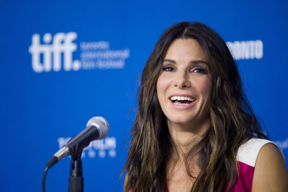 "Photo - Actress Sandra Bullock speaks during the press conference for ""Gravity"" at the 2013 Toronto International Film Festival in Toronto on Monday, Sept. 9, 2013. (AP Photo/The Canadian Press, Galit Rodan) ORG XMIT: GYR101"