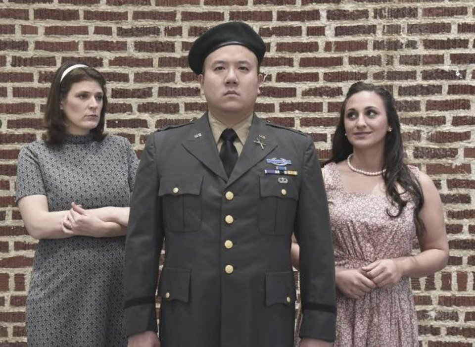 Photo -  Saira Frank, Andre Chiang and Mary McDowell star in Painted Sky Opera's production of