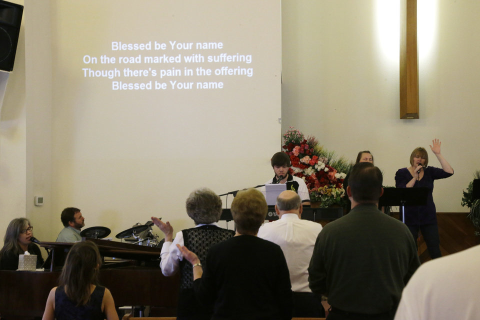 Photo - As the words to a hymn that include the phrase