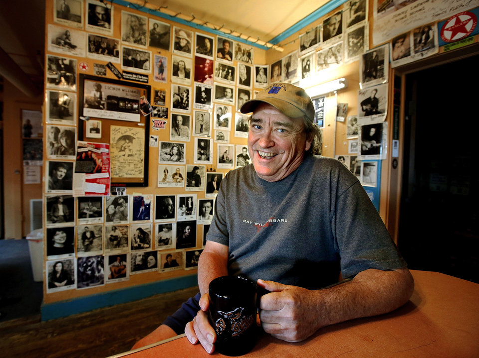Greg Johnson sits inside his home, which also happens to be the beloved listening room the Blue Door, 2805 N McKinley. The venue is celebrating its 20th anniversary. Photo by Jim Beckel, The Oklahoman Jim Beckel